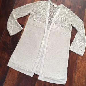 Lucky Brand Acrylic Knit longline cardigan duster